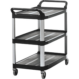 Rubbermaid Black Service Cart 41 inch x 20 inch x 38 inch