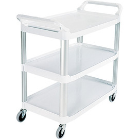Rubbermaid White Service Cart 41 inch x 20 inch x 38 inch