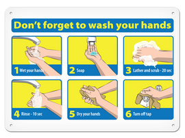 Don ftt Forget to Wash Your Hands Sign (5 Per/Pack)