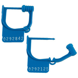 Easy Lock Seals Blue 15/16 inch (1000 Per/Pack)