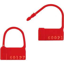 Plastic Padlock Seals Red (1000 Per/Pack)