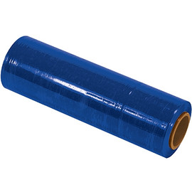 Cast Hand Stretch Film Blue 18 inch x 80 Gauge x 1500 ft Roll (4 Roll/Pack)