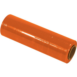 Cast Hand Stretch Film Orange 18 inch x 80 Gauge x 1500 ft Roll (4 Roll/Pack)