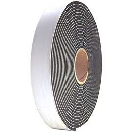 Single Sided Black Low Density PVC Foam Tape 1/16 inch Thick x 2 inch Wide x 150 ft Long Roll (12 Roll/Pack)