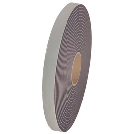 Single Sided Black Low Density PVC Foam Tape 1/4 inch Thick x 1 inch Wide x 35 ft Long Roll (24 Roll/Pack)