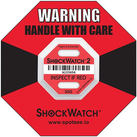 Shockwatch 2 Indicators Red 50G (50 Per/Pack)