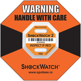 Shockwatch 2 Indicators Orange 75G (50 Per/Pack)