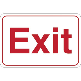 Facility Sign 6 inch x 9 inch - Exit