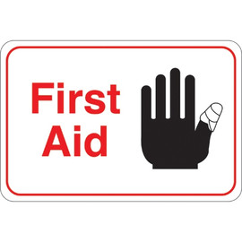 Facility Sign 6 inch x 9 inch - First Aid