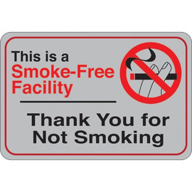 Facility Sign 6 inch x 9 inch - Smoke-Free Facility