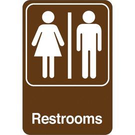 Facility Sign 9 inch x 6 inch - Men/Women Restrooms