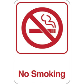 Facility Sign 9 inch x 6 inch - No Smoking