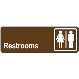 Door Sign 3 inch x 9 inch - Restrooms