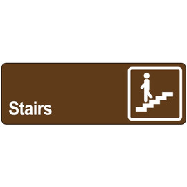 Door Sign 3 inch x 9 inch - Stairs