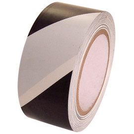 SST-636 2 inch x 36 yard Roll Black / White Vinyl Safety Stripe Tape