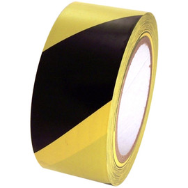 SST-636 2 inch x 36 yard Roll Black / Yellow Vinyl Safety Stripe Tape