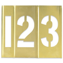 Number Only Brass Stencils 2 inch
