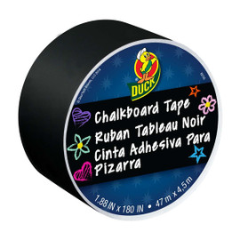 Duck Brand Chalkboard Crafting Tape 1.88 inch x 5 yard Roll Black (284877)