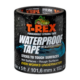 T-REX Waterproof Tape, UV resistant 4 inch x 5 ft Roll