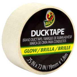 Ducklings Mini Duck Tape Brand Duct Tape Glow in The Dark Duck Tape 0.75 inch x 6 ft Roll