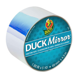 Duck Mirror Crafting Tape 1.88 inch x 5 yard Roll - white