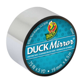 Duck Mirror Crafting Tape 0.75 inch x 5 yard Roll- Silver
