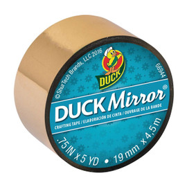 Duck Mirror Crafting Tape 0.75 inch x 5 yard Roll- Gold