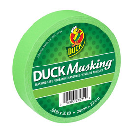 Light Green Duck Masking Color Masking Tape 0.94 inch x 30 yard Roll