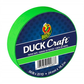 Duck Brand Color Masking Tape 0.94 in. x 60 ft. Neon Green