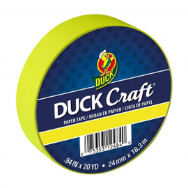 Duck Brand Color Masking Tape 0.94 in. x 60 ft. Neon Yellow
