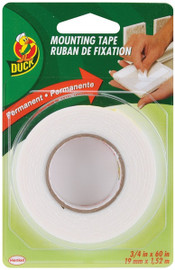 Double Sided Permanent Foam Mounting Tape Duck Brand 3/4 inch x 60 inch