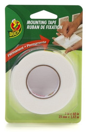 Double Sided Permanent Foam Mounting Tape Duck Brand 1 inch x 60 inch