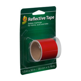 Duck Brand Reflective Tape - Red 1.5 inch x 30 inch Strip