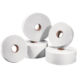 Tape Logic #5000 White Non Reinforced Water Activated Tape 1 inch x 500 ft Roll (30 Roll/Pack)