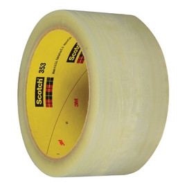 3M 353 Carton Sealing Tape Clear 2 inch x 55 yard Roll (6 Roll/Pack)