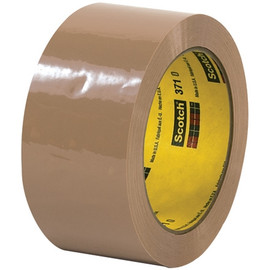 3M 371 Carton Sealing Tape Tan 2 inch x 55 yard Roll (36 Roll/Pack)