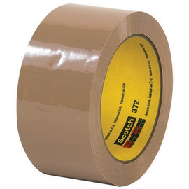 3M 372 Carton Sealing Tape Tan 2 inch x 55 yard Roll (6 Roll/Pack)