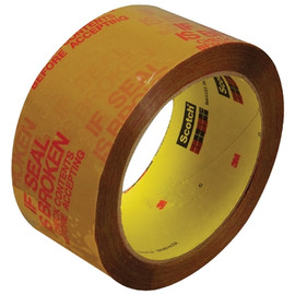 3M 3732 IF SEAL IS BROKEN Carton Sealing Tape 2 inch x 55 yard Tan (6 Pack)
