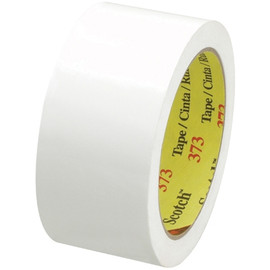Carton Sealing Tape 3M 373 White 2 inch x 55 yard Roll (36 Roll/Pack)