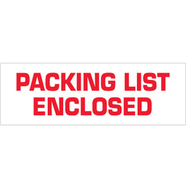 Tape Logic Pre-Printed Packing Tape White - Packing List Enclosed 2 inch x 55 yard Roll (6 Pack)