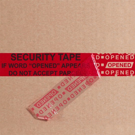 Tape Logic Secure Tape Red 2 inch x 9 inch Strip (100 Strip/Pack)