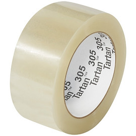 3M 305 Carton Sealing Tape Clear 2 inch x 110 yard Roll (36 Roll/Pack)