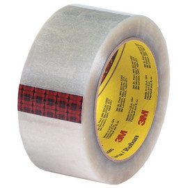 3M 313 Carton Sealing Tape Clear 2 inch x 55 yard Roll (36 Roll/Pack)