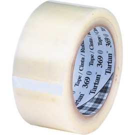 3M 369 Carton Sealing Tape Clear 2 inch x 110 yard Roll (6 Roll/Pack)