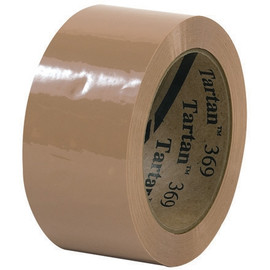 3M 369 Carton Sealing Tape Tan 2 inch x 110 yard Roll (6 Roll/Pack)