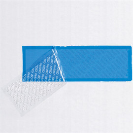 Tape Logic Security Strips on a Roll Blue 2 inch x 5 3/4 inch Strip 330 Strip Roll