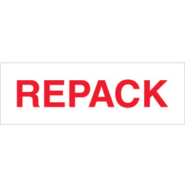 Tape Logic Pre-Printed Packing Tape White - REPACK 2 inch x 110 yard Roll (6 Pack)