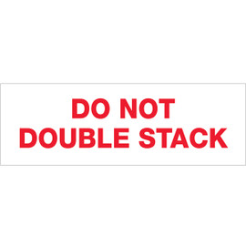 Tape Logic Pre-Printed Packing Tape White - DO NOT DOUBLE STACK 2 inch x 110 yard Roll (36 Roll/Pack)