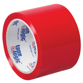 Tape Logic Red Carton Sealing Tape 3 inch x 55 yard (6 Pack)
