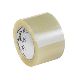 3M 302 Carton Sealing Tape Clear 3 inch x 110 yard Roll (6 Roll/Pack)